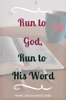 Run to God, Run to His Word