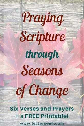 Praying Scripture through Seasons of Change