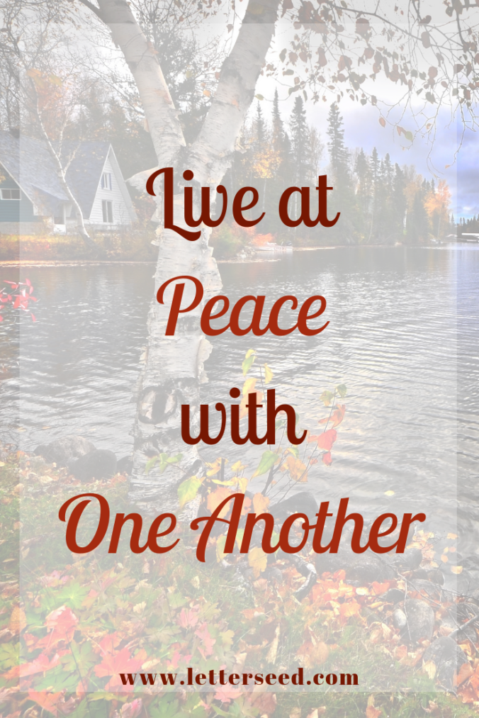 Live at Peace with One Another
